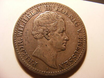 German States Prussia Thaler, 1831-A, Crowned arms within chain, VF