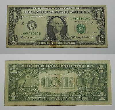 U.s.a. One Dollar Banknote Series 1963 A