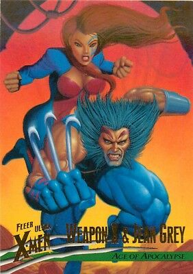 1996 Fleer Ultra X-Men Wolverine Base Card #90 Weapon X & Jean Grey