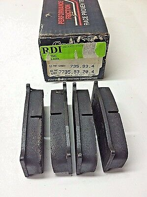 NOS Performance Friction 7735 Brake Pads Brembo AP Bedded
