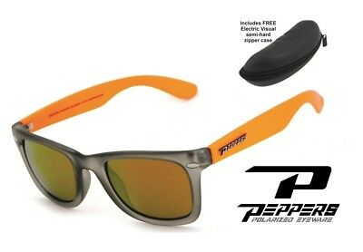 460f388cb1 NEW Peppers Sweet Gold Mirror Polarized Mens Sunglasses + Electric Case  Msrp 57