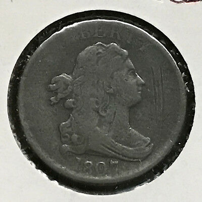 1807 1/2C BN Draped Bust Half Cent [Auto Comb Shipping](30852)