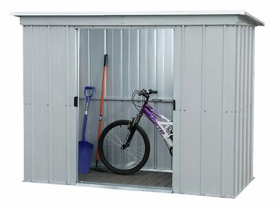 Yardmaster Pent Sliding Lockable Doors Metal Shed - 6x4, 8x4, 10x4 - Argos