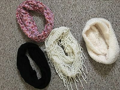 Lot of 4 Girl's CIRCLE SCARVES