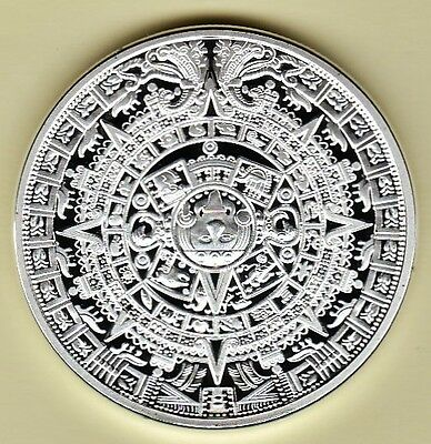 Mexico Aztec Mayan Prophecy Encapsulated Cameo Proof Commemorative Medal