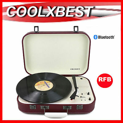 Crosley Coupe Bluetooth Turntable 3 Speed Pitch Control Cabernet Red (Rfb)