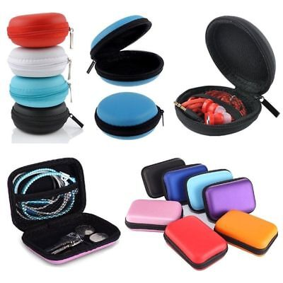 Portable Headphone Earbuds Hard Case Pouch Bag For SD TF Card Earphone Storage