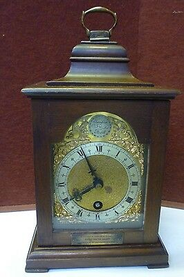 Vintage Miniture Bracket Style Mantel Clock In Full Working Order