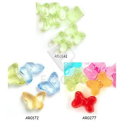 20pcs Transparent Acrylic Butterfly Spacer Beads Jewellery 14x18mm/16x12mm Lots