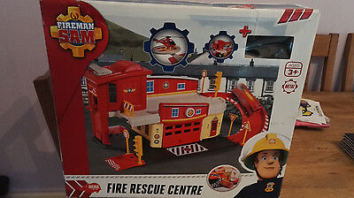 FIREMAN SAM FIRE RESCUE CENTRE WITH DIECAST HELICOPTER - Loose Complete Items
