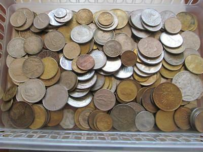 1.25 Kilos mixed foreign coins as pictured - All good filler/collectable coins