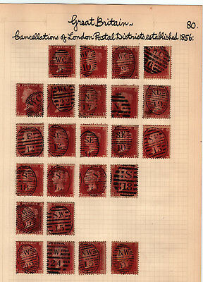 letter stamp lot 23238 gb qv 1d selection and postage due selection 23154