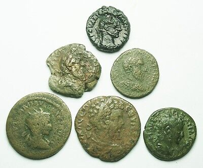 Interesting Selection Of Six Roman Provincial Bronze Coins (200X)