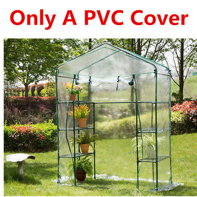 Walk in 6 Shelf 3 Tier Grow house Outdoor Garden Plant Greenhouse with PVC Cover