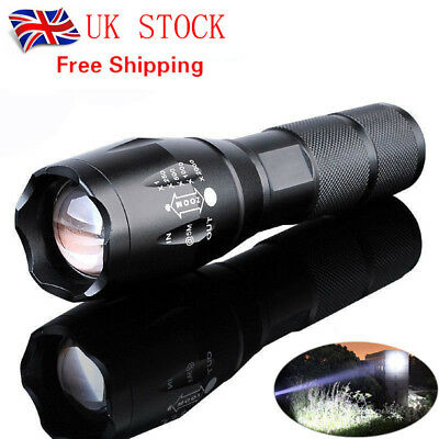 Aluminum alloy 10000Lumens Zoomable Tactical military LED Flashlight Torch Lamp