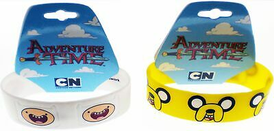 Adventure Time with Finn & Jake Faces Silicone Rubber Wristband Set [Set of 2...