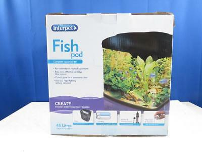 Interpet Fish Pod Glas Aquarium 43 x 33 x 39 cm Fische Heimaquarium