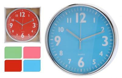 19.5cm Small Plastic Round Room Home Office Decor Kitchen Quartz Wall Clock