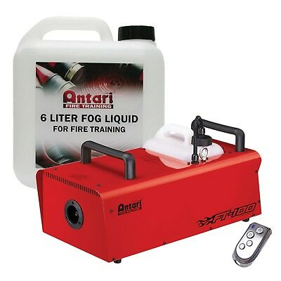 Elation Professional FT-100 Fire Training Fog Machine + 6 Liter Training Fluid