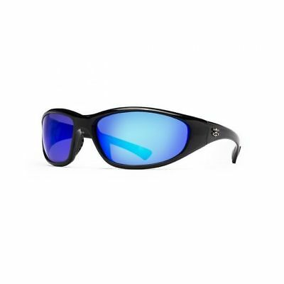 Calcutta Polarized Baja Sunglasses Black/Blue Mirror Lens BJ1BM