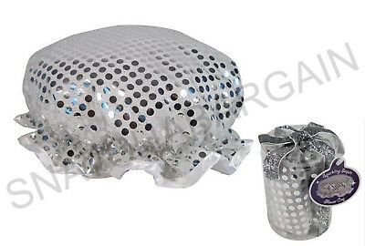 1 x SPARKLING SILVER SEQUIN SHOWER CAP IDEAL FOR A STOCKING FILLER