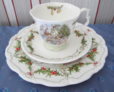 """Brambly Hedge Royal Doulton """" Merry Midwinter """" Kaffeegedeck 3teilig TOP Zustand"""
