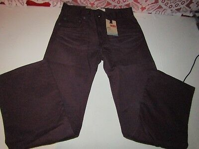 NWT Boy's/Girl's LEVI'S 505 Straight Fit Purple Potion Pants Size 14 REG. 27x27