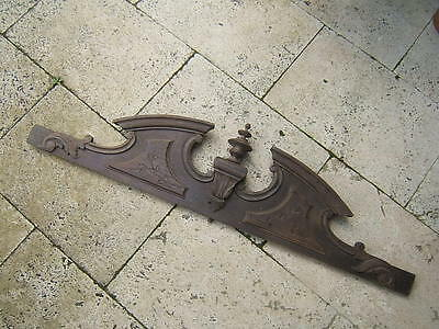 old FRENCH WOOD SALVAGE PEDIMENT STYLE GREEK TEMPLE CORNICE WHIRLIGIG CARVED N°2