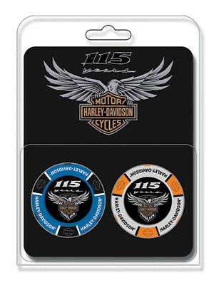 Harley-Davidson 115th Anniversary Collector's Poker Chip Pack, Blue & Gray 671