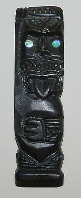 New Zealand : Maori Figurine - Older Souvenir Piece In Traditional Style