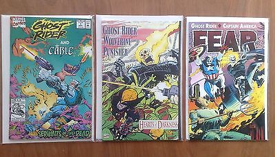 3 x GHOST RIDER GRAPHIC NOVELS PUNISHER, WOLVERINE, CAPTAIN AMERICA ALL V/FINE