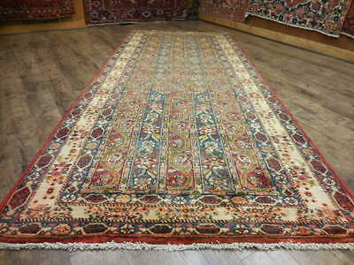 Ca1940 VG DY ANTIQUE PERSIAN MOHAREMAT ISFAHAN ESFAHAN 5x11 ESTATE SALE RUG