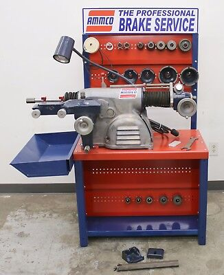 Ammco 4000 Disc Drum Brake Lathe Loaded w/ Tooling #306 Adapters & Bench, too!