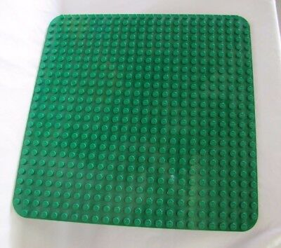 "Large Genuine DUPLO GREEN BASE BOARD / PLATE ~ 15"" x 15"" ~ 24 x 24 Studs"
