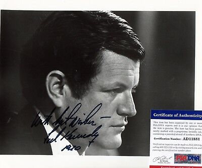 Ted Kennedy Autographed 8x10 Photo Hand Signed Original Authentic PSA/DNA