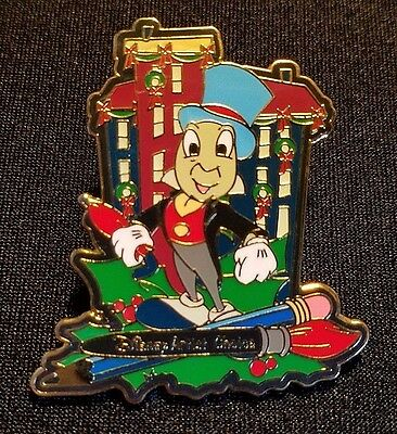 Retired 2001 Disney Wdw Artist Choice Series Holiday Jiminy Cricket Pin Le 3500