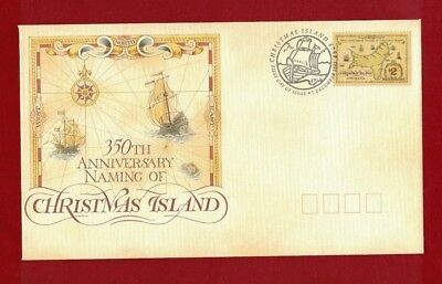 1998 Christmas Island 350th Anniversary SG 385 FDC or fine used