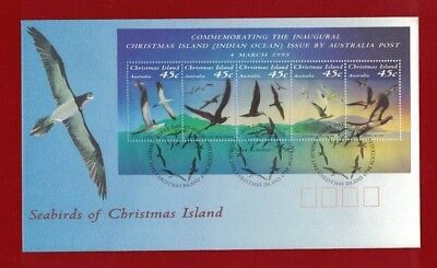 1993 Christmas Island Seabirds SG MS 377 FDC or fine used set