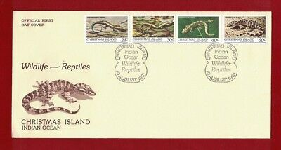1981 Christmas Island Reptiles SG 14/7 FDC or fine used set