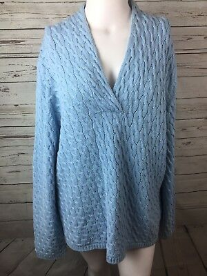 TALBOTS Woman blue Cable knit Sweater Size 3X Women's
