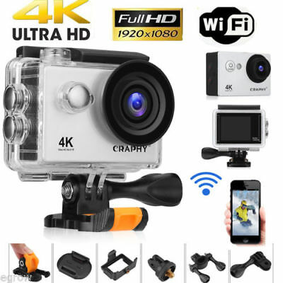 Ultra HD 1080P 4K WIFI Sports Action Camera Waterproof Video Camcorder DV 16MP