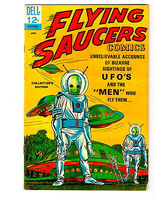 FLYING SAUCERS COMICS #1 a 1967 DELL comic in VF- condition SCI-FI