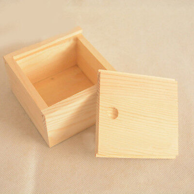 Small Plain Wooden Storage Box Case for Jewellery Small Gadgets Wood Striking