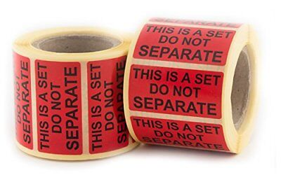 """This Is a Set Do Not Separate"" Stickers 1"" X 2"" Use with FBA - 500 Labels Per 2"