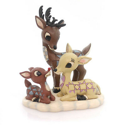 Jim Shore RUDOLPH WITH MOM AND DAD Polyresin Red-Nosed Reindeer 4053071