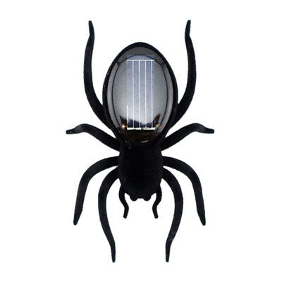 Kids Educational Toy Black Scary Insect Solar Powered Spider Tarantula Trick Toy