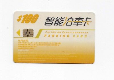 China Macau Car Parking Card whit Chip face value $100 used