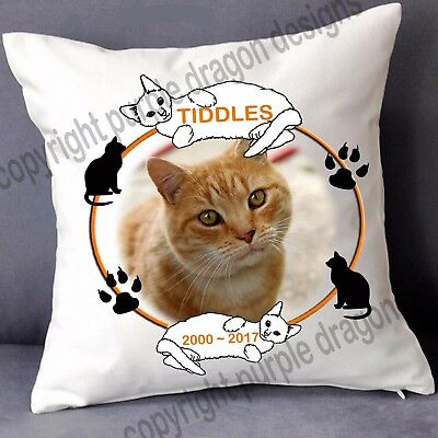Pet Cat memorial cushion