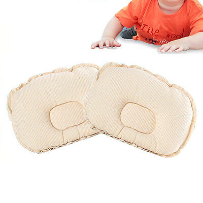 Baby Anti Roll Sleep Cotton Pillow Infant Newborn Positioner Prevent Flat Head