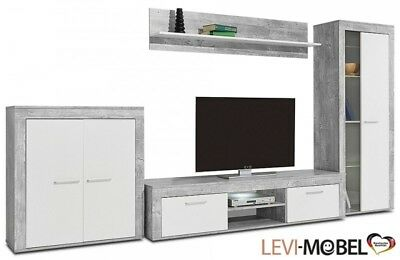 stauraumschrank wohnzimmer wohnwand schrank beton optik matt neu 672102 eur 109 00 picclick de. Black Bedroom Furniture Sets. Home Design Ideas